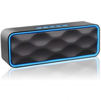 Aigoss Altavoz Bluetooth Portátil Inalámbrico Estereo Exteriores con Audio HD Altavoz de Doble Controlador Integrado