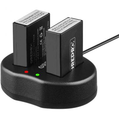 LP-E17 Cargador Paquete de 2 Baterías de Repuesto con Cargador Dual USB para Canon LPE17