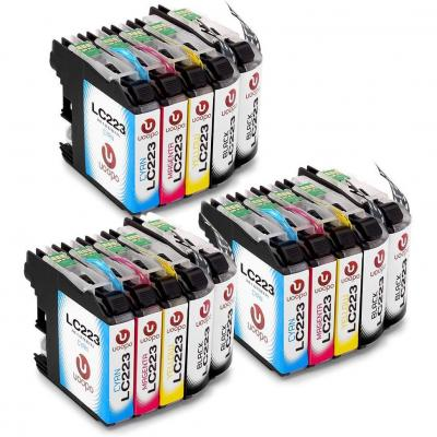 Uoopo LC223XL Compatible Cartuchos de tinta Brother LC223