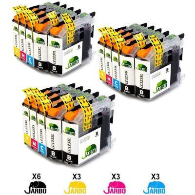 JARBO LC123XL Alta capacidad Cartuchos de tinta Reemplazo para Brother LC123 Compatible con Brother DCP-J132W J152W J552DW J752DW J4110DW