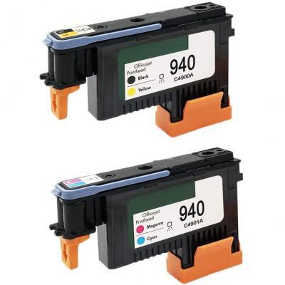 Karl Aiken Pack Hp940xl 940 Cabezal De Impresión Para Hp Officejet Pro 8000 8500 Hp 940 Cabezal De Impresión C4900a C4901a Para Hp Officejet Pro 8000 8500 8500a 8500a Plus Impresora