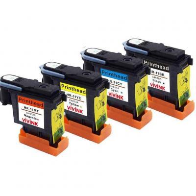 VIVINK Cabezal de impresión remanufacturado de Repuesto para Cabezal de impresión HP 11 C4810A C4811A C4812A C4813A