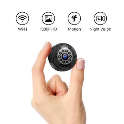 Victure Cámara Espia Oculta 1080P Mini WiFi Cámara de Seguridad Inalámbrica portátil y Recargable Interior Hogar con visión Nocturna por infrar Rojos Detección de Movimiento
