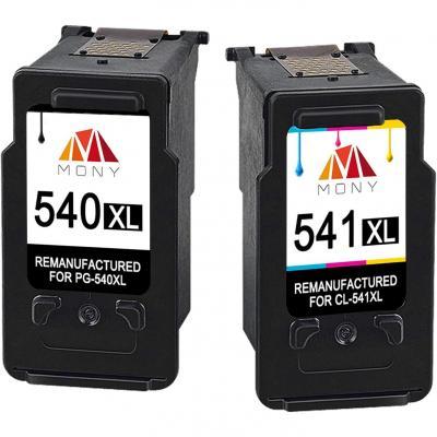 Mony Remanufacturado Cartuchos de tinta Canon PG-540 CL-541 XL