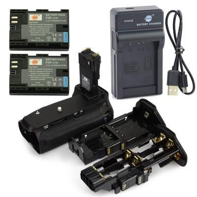 Dste Bg-e14 Apretón Batería + 2x Lp-e6 Batería + Usb Cargad