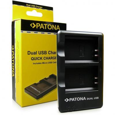 Patona Cargador De Batería Doble Lp-e10 Para Bateria Canon Eos 1100d Eos 1200d Eos Rebel T3