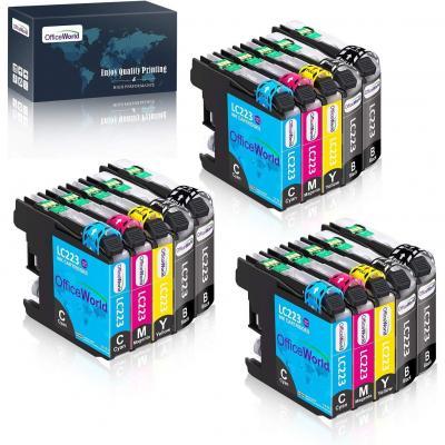 OfficeWorld Reemplazo para Brother LC223 Cartuchos de tinta Compatible para Brother DCP-J4120DW J562DW