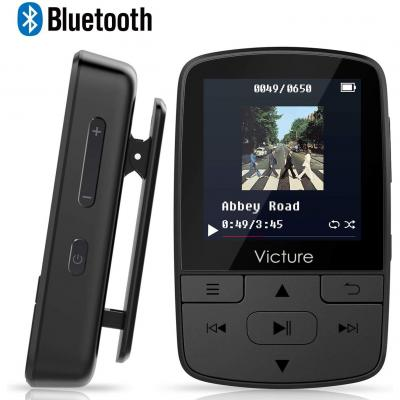 Victure Reproductor MP3 MP4 Bluetooth 4.1 Clip Running Reproductor de Música para el Deporte FM Radio Podometro E-Book Auriculares Soporte SD USB TF hasta 128 GB Tarjeta