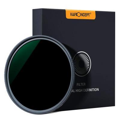 K and F Concept Filtro de Densidad Neutra Slim ND1000 77mm, Recubrimiento Multirresistente 18 Capas 10 -Stop Filtro ND HD Nano-X MRC para Cámara Lente