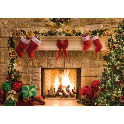 Aiikes 7x5ft Feliz Navidad