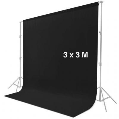 CRAPHY 3 m x 3 m Pantalla de Fondo Negro