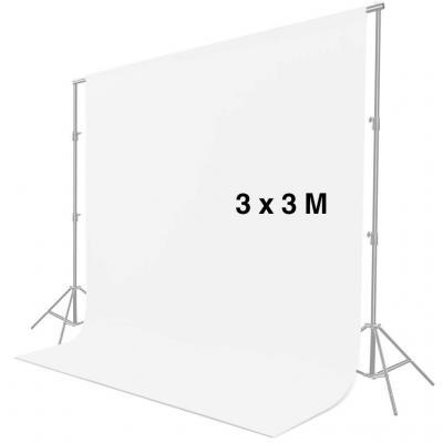 CRAPHY 3 m x 3 m Pantalla de Fondo Blanco