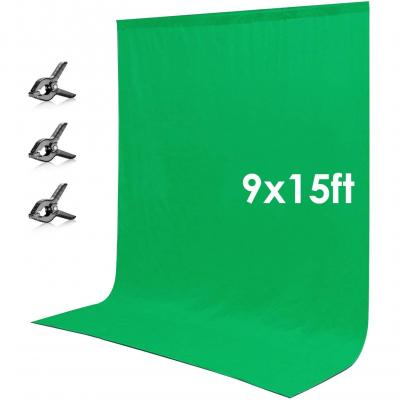 Neewer 2.7x4.6 Metros Pantalla De Fondo Chromakey Musel Verde Telón De Fondo Con 3 Pinzas Para Foto