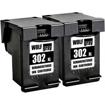 Wolfgray Remanufacturado para HP 302 XL 302 Cartuchos de Tinta