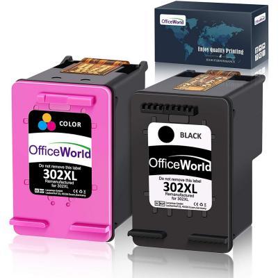 OfficeWorld Remanufacturado HP 302XL 302 XL Cartucho de tinta Paquete de ahorro de 2