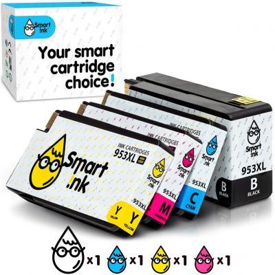 Smart Ink Reemplazo Compatible del Cartucho de Tinta HP 953 XL 953XL High Yield 4 Pack