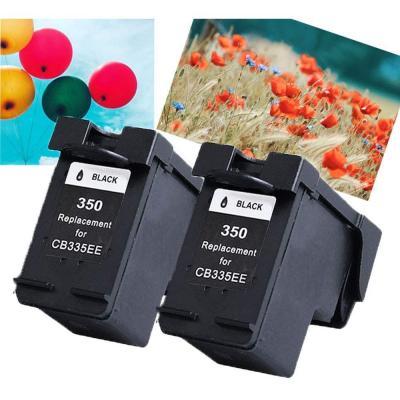 Teng, Cartuchos compatibles con HP 350XL 351XL, 2 Negros para Trabajar con HP Officejet J6424 J5780, HP Photosmart C4280 C4340 C4380 C5280 C4480 C4580 HP Deskjet D4260 D4360