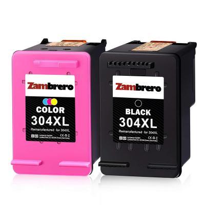 Zambrero Remanufacturado HP 304XL 304 XL Cartuchos de tinta Negro y Tricolor para HP DeskJet 2620 2630 3720 3730 3732 3735 3760 HP ENVY 5020 5030 5032