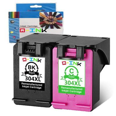 QINK 2PK 304 Reemplazo de Cartucho de Tinta Remanufacturado para HP 304XL Uso para HP Deskjet 3720 2630 2632 3700 3721 3723 3724 3730 3732 3752 3758