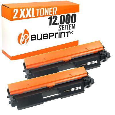 2 Bubprint Xxl Tóner Compatible Con Hp Cf217x 17x Cf217a 17a Laserjet Pro M102 M102w Mfp M130a M130nw M130fn M130fw