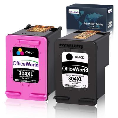 OfficeWorld Remanufacturado HP 304XL 304 XL Cartucho de tinta de Alta Capacidad