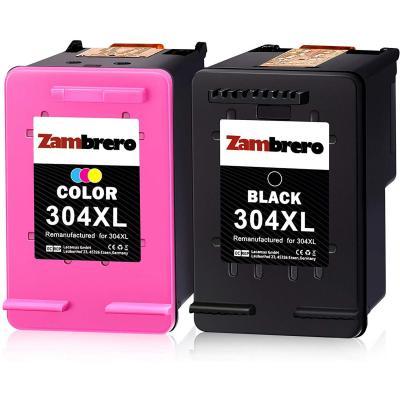 Zambrero Remanufacturado Hp 304xl 304 Xl Cartuchos De Tinta Negro Y Tricolor Para Hp Deskjet 2620 2630 3720 3730