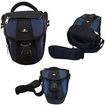 Case4Life Negro  Azul Funda Bolsa para cámaras réflex para Panasonic Lumix DMC- Serie inc G70