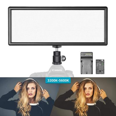 Neewer Luz Regulable LED Super Fino Bi-Color con Pantalla LCD 2600mAh Batería de Li-ion y Cargador