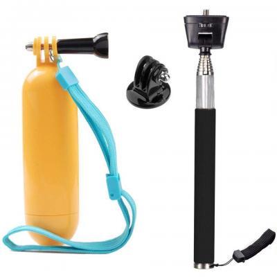 Tekcam cámara de la acción Selfie Stick empuñadura Flotante para AKASO ek7000 apeman Campark odrvm Eken victure SJCAM SJ7000 Cámaras Resistente al Agua