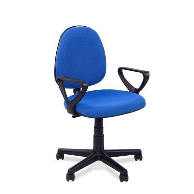 Adec, Silla escritorio giratoria despacho o estudio Danfer, medidas 61x55x109 cm, color Azul