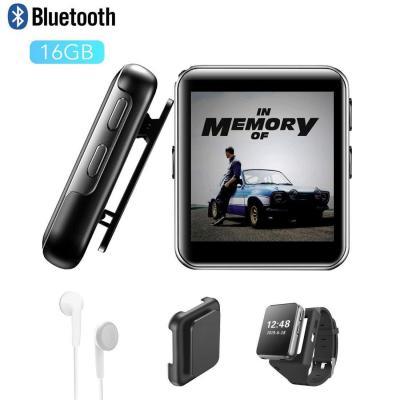 MP3 CFZC 16GB MP3 Bluetooth 1.5 Reproductor de MP3 Pantalla Táctil Completa HiFi Sin Pérdida de Sonido MP3 Running
