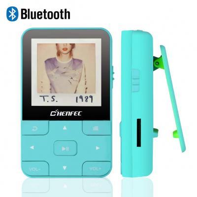 CFZC Reproductor MP3 Bluetooth 4.2 con Clip Reproductor de Música para el Deporte Pantalla TFT de 1.5 Pulgadas 16GB