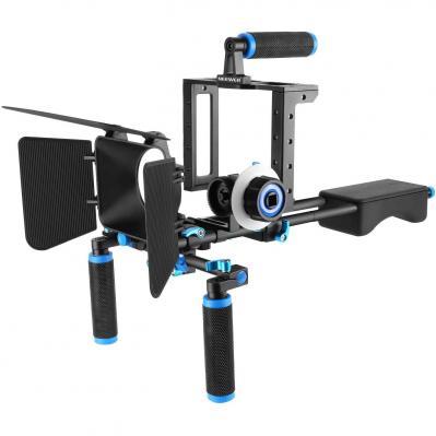 Neewer DSLR Movie Rig aleación Aluminio para réflex Digitales Canon Nikon Sony  Jaula fotográfica  Mango Superior  Barra 15 mm  Matte Box  Follow Focus  estabilizador Hombro Azul
