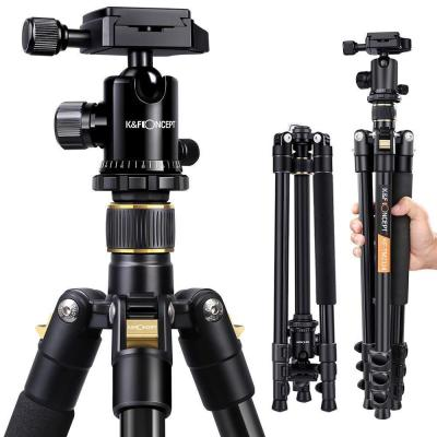 K and F Concept Trípode Completo TM2324 Trípode Flexible para Cámara Canon Sony Nikon con 360 Rótula de Bola Placa Rápida Liberación Bolsa de Transporte para Vieja y Trabajo