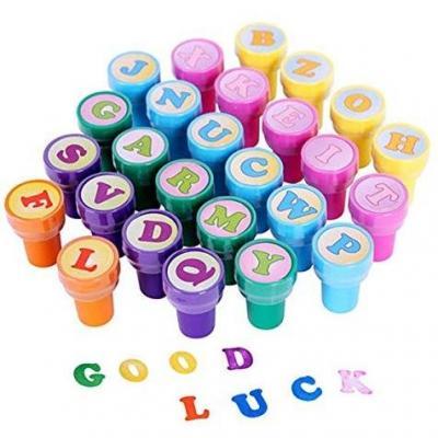 ULTNICE 26 piezas de estampillas de juguetes multicolores sellos de letras de juguete para niños