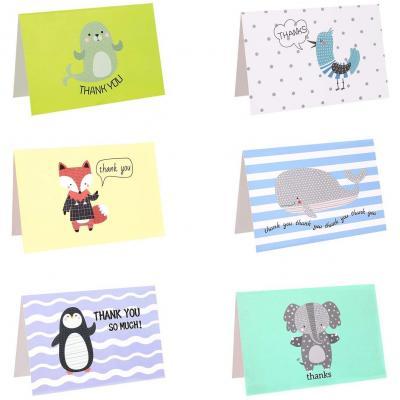 Tarjetas De Agradecimiento 6 Designs Invitaciones Thank You Note Cards Con 48 Sobres Para Regalo