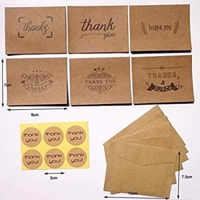36 Piezas Nota De Agradecimiento Tarjetas Gracias Tarjetas De Regalo
