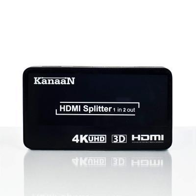 Duplicador HDMI con 1x Entrada y 2X Salidas kwmobile Divisor HDMI 2.0 Splitter con Soporte EDID Distribuidor 1x2 HDMI 4k@60Hz HDCP 2.2 3D