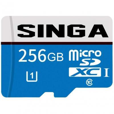 Singa, Tarjeta Micro SD de 256 GB de alta velocidad, Clase 10 Micro SD SDXC, Tarjeta de memoria TF con adaptador SD