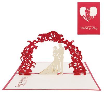 Blizim 3D Pop-up Tarjeta de Felicitación Hecho a mano Romántico Amante