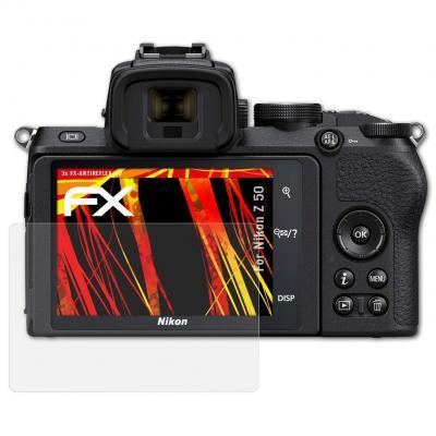 AtFoliX Protector Película Compatible con Nikon Z 50 Lámina Protectora de Pantalla