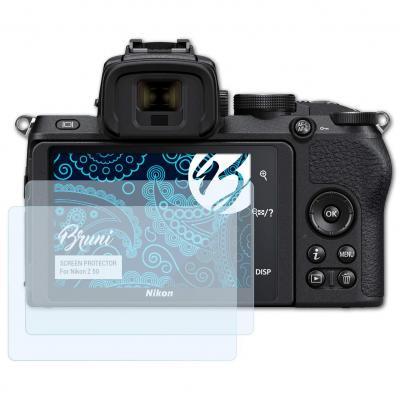 Bruni Película Protectora Compatible con Nikon Z 50 Protector Película